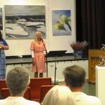 Frå opninga av Vinjeutstillinga Frøydis Grorud, Anne Gravir Klykken, Trude Kristin Klæboe